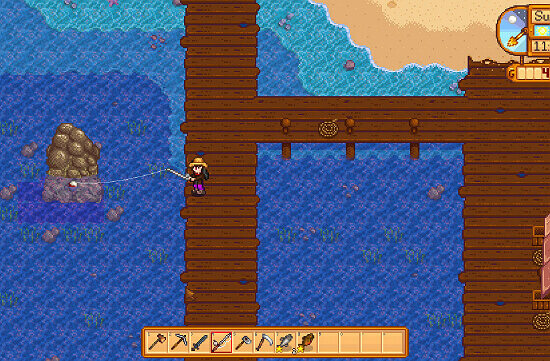 Fishing in game Stardew Valley