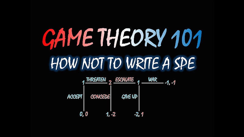 Game Theory 101 How not to write a spe