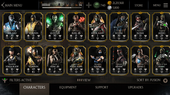 Mortal Kombat X Characters