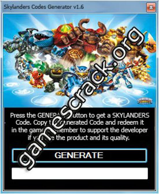Skylanders Codes Generator