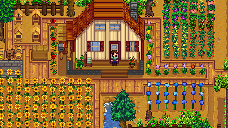 Stardew Valley Wood Cutting