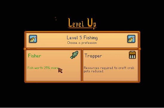 Stardew Valley Fisher vs Trapper