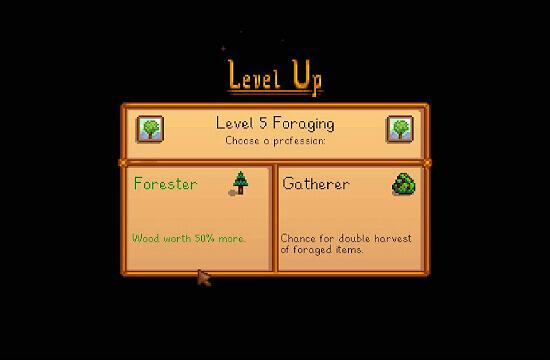 Stardew Valley Forester vs Gatherer