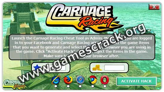 Carnage Racing cheats