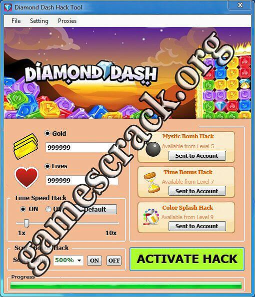 Diamond Dash Hack Tool