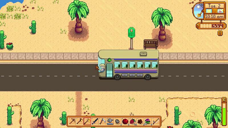 Bus to the Desert Stardew Valley