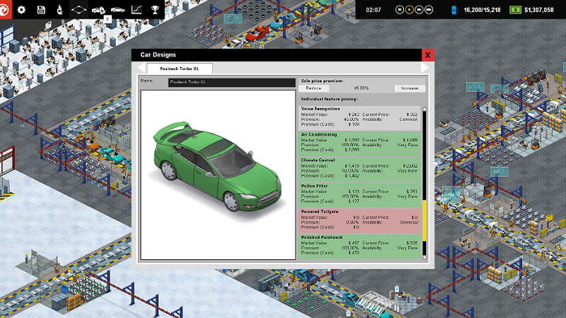 Production Line Car factory simulation factory