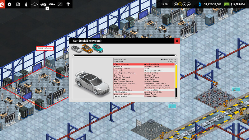 Production Line Car factory simulation PC Game