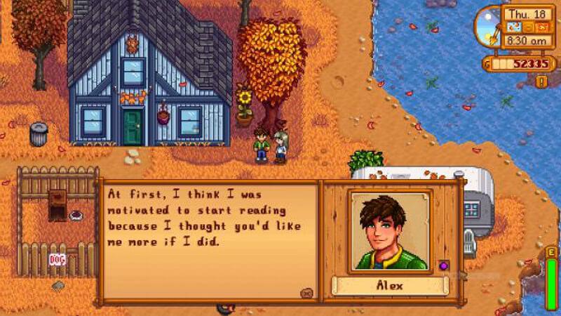 Stardew Valley Alex Relationships