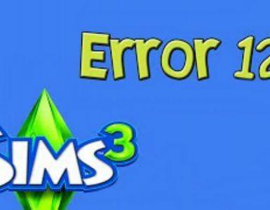 The Sims 3 Error Code 12