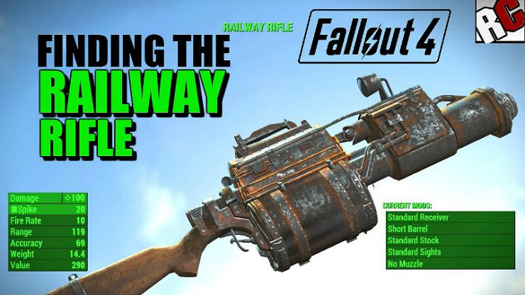 Fallout 4 Railway Rifle