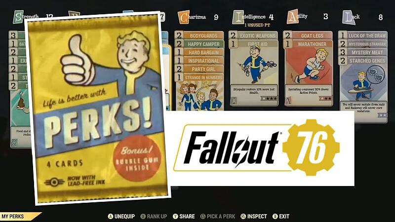 Fallout 76 Perk Cards