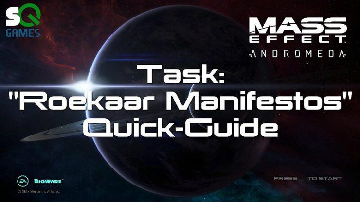 Mass Effect Andromeda Roekaar Manifestos