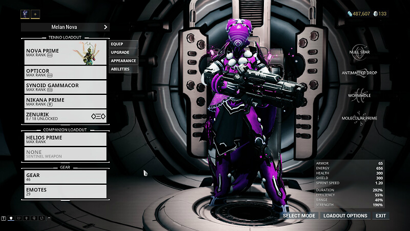 Warframe Nova Mods : Both of these frames are exceptionally well made and are still relevant.