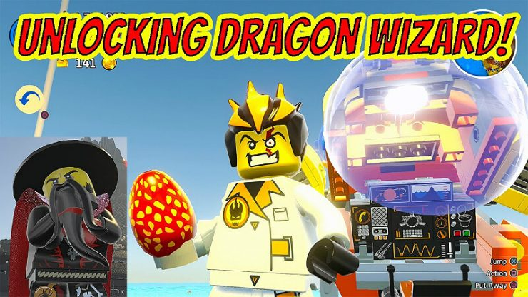 Lego Worlds Dragon Wizard